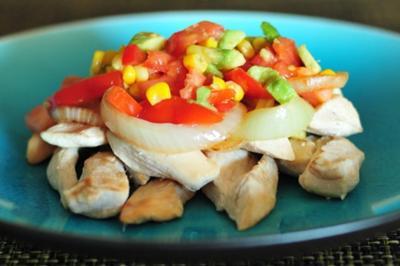 Chicken Corn Avocado Salsa
