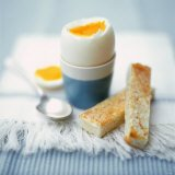 Boiled breakfast egg with toast soldiers